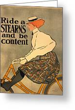 Ride A Stearns And Be Content Greeting Card