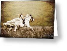 Ride Like The Wind Greeting Card