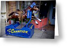 Ride The Champion Greeting Card