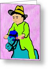 Ride The Horsey Greeting Card