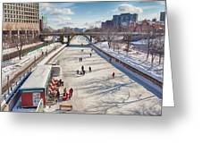 Rideau Skateway Greeting Card