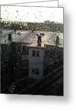 Ridgewood Houses Wet With Rain Greeting Card by Mieczyslaw Rudek Mietko