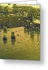 Ridgewood Wet With Rain St Matthias Roman Catholic Church Greeting Card
