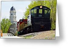 Riding The Train Greeting Card