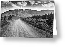 Riding To The Mountains Greeting Card