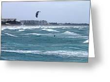 Riding Wind And Surf Greeting Card