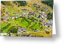 Riederalp Switzerland With Golf Course Greeting Card