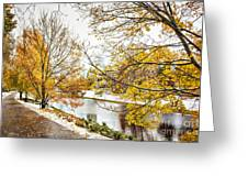 Riga Central Park Greeting Card