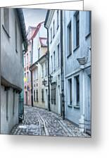 Riga Narrow Street Greeting Card