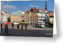 Riga Old Town 3 Greeting Card