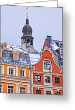 Riga Old Town Greeting Card