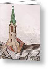 Riga St Johns Church Greeting Card