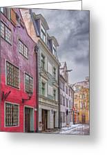 Riga Street Greeting Card