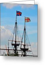 Rigging And Flags Greeting Card