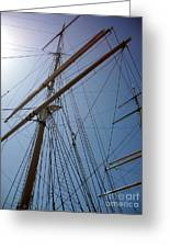 Rigging Of The Constitution Greeting Card