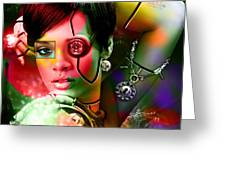 Rihanna Over Rihanna Greeting Card