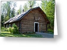 Rika's Barn In Big Delta Historical Park-ak  Greeting Card
