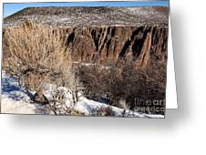 Rim Of The Black Canyon Greeting Card