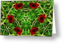 Ring Of Poppies Greeting Card