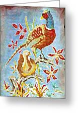 Ringneck Pheasants Greeting Card
