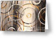 Rings Of Gold Abstract Painting Greeting Card