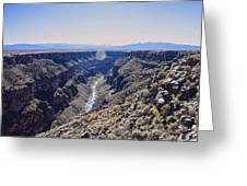 Rio Grande Gorge Greeting Card