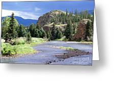 Rio Grande River Landscape Greeting Card