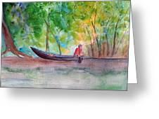 Rio Negro Canoe Greeting Card