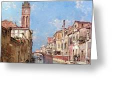 Rio St Barnaba Venice Greeting Card