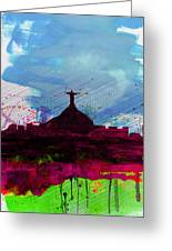 Rio Watercolor Skyline Greeting Card