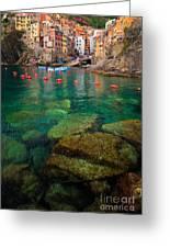 Riomaggiore Bay Greeting Card