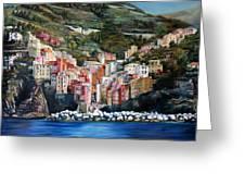Riomaggiore Glory- Cinque Terre Greeting Card