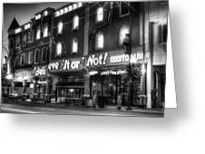 Ripley's Of Gatlinburg In Black And White Greeting Card