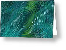 Ripple Sea Glass  Greeting Card