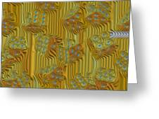 Rippled Dice Abstract Greeting Card