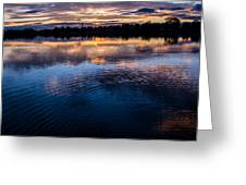 Rippled Sunset Greeting Card