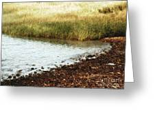 Rippled Water Rippled Reeds Greeting Card