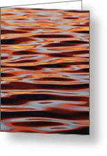 Ripples At Sunset Greeting Card