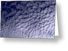 Ripples In The Dark Blue Sky Greeting Card