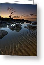 Ripples In The Sand Greeting Card by Mark Leader