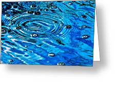 Ripples Of A Bubble Bursting Greeting Card