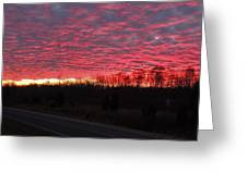Ripples Of Elevated Lava Greeting Card