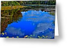 Ripples On Fly Pond - Old Forge New York Greeting Card
