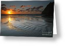 Ripples On The Beach Greeting Card