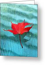Rippling  Red Greeting Card