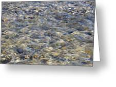 Rippling Water Over Rocks Greeting Card