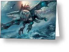 Riptide Chimera Greeting Card