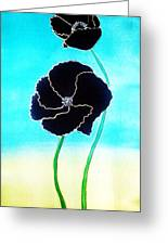 Rising Poppies Greeting Card