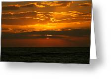 Rising Sun In The Clouds  Greeting Card
