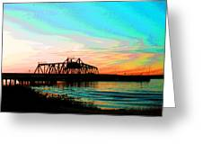 Rising Sun On The Mokelumne River Greeting Card